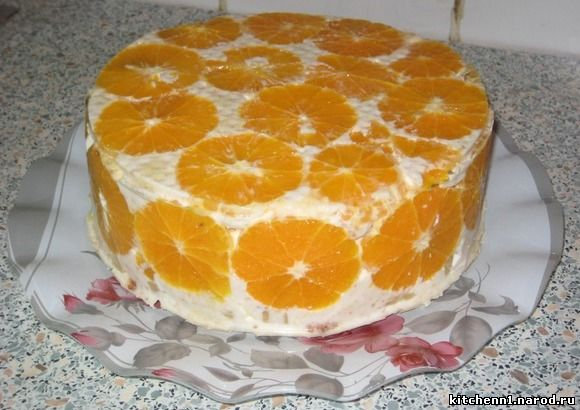 Фруктовый торт нежность рецепт